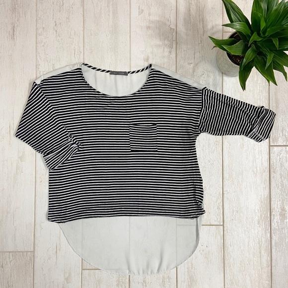 Suzy Shier Striped Blouse